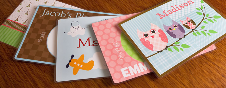 personalized kids placemats custom placemats for kids frecklebox